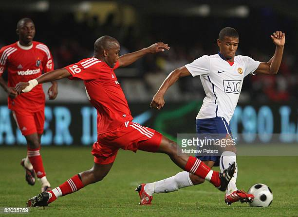 Fraizer Campbell of Manchester United in action during the Vodacom Challenge preseason friendly match between Orlando Pirates and Manchester United...