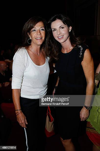 Framboise Holtz and Actress Caroline Barclay attends the 'Momo' Theater Play At Theatre de Paris on August 31 2015 in Paris France