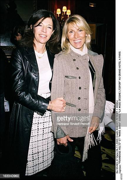 Framboise Holtz and Marie Sara party La Mode Dessine L'Espoir at the Grand Hotel in Paris