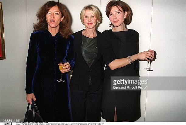 Framboise Holtz MarieChristiane Marek Beatrice Schonberg at the13 Parures Pour Le 13 One Hundred Years Of Cartier Celebrated In Paris