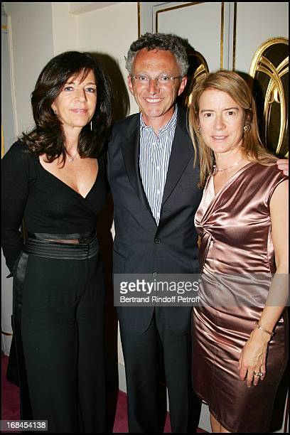 Framboise Holtz Nelson Monfort and his wife at Clarins Invites You To Celebrate The 10 Years Of The Woman's Energising Award