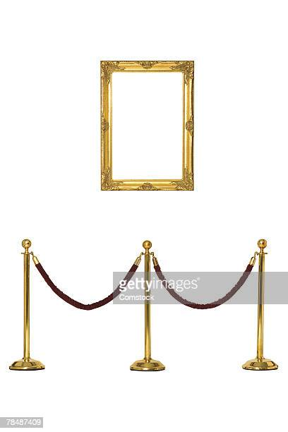 frame and velvet rope barrier - cordon boundary stock pictures, royalty-free photos & images