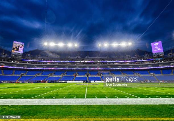 A 21 frame composite high dynamic range image taken on January 11 of MT Bank Stadium in Baltimore MD prior to the AFC Divisional Playoff between the...