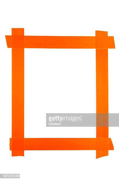 Frame Made From Orange Duct Tape