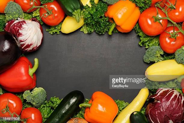 a frame made out of many vegetables - out of frame stock pictures, royalty-free photos & images