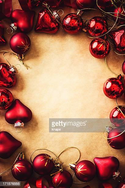 Rahmen mit Weihnachten Kugeln