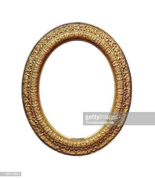 frame - gold circle stock pictures, royalty-free photos & images