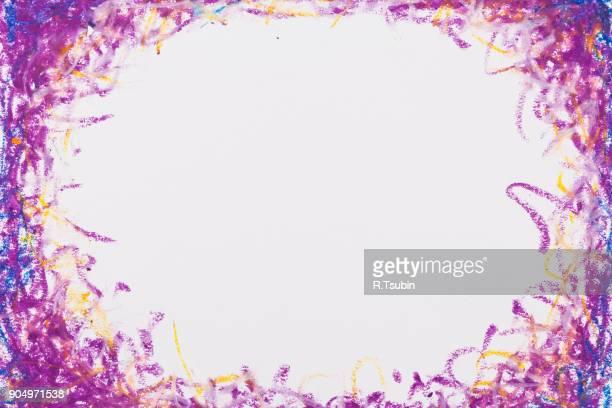 frame texture background - クレヨン ストックフォトと画像