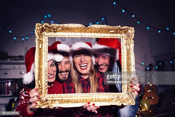 Cadre de Noël moment inoubliable
