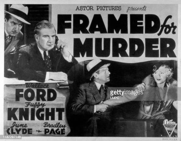 Framed For Murder poster Bradley Page bottom from left Wallace Ford June Clyde 1934