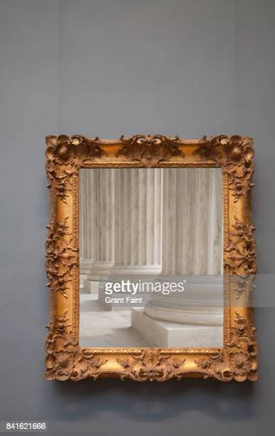 Framed photograph of columns.