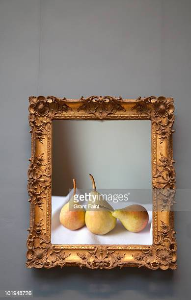 Framed photograph of three pears
