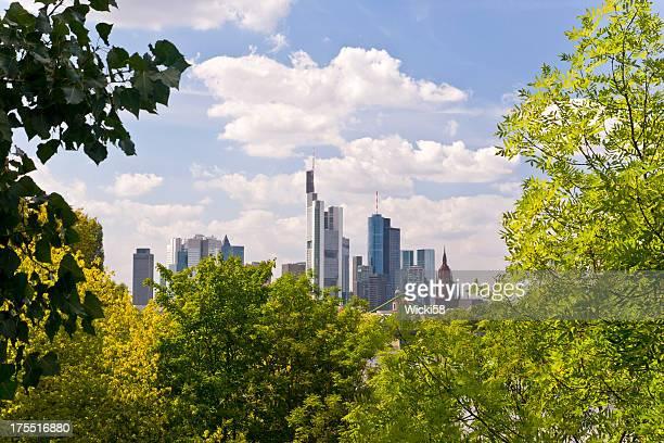 Gerahmte Skyline von Frankfurt am Main, Deutschland