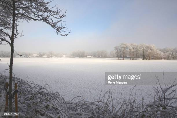framed snowworld - mensen stock pictures, royalty-free photos & images