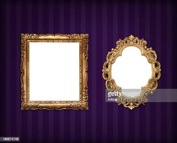 Frames on wallpaper
