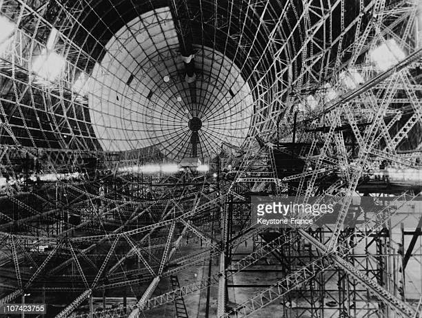 Framework Of The American Dirigible Akron In Usa