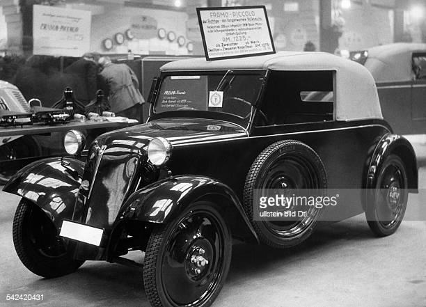 FramoPiccolo auf der Autoausstellung inBerlinMärz 1934Aufnahme Paul Maierschienen in Berliner Morgenpost