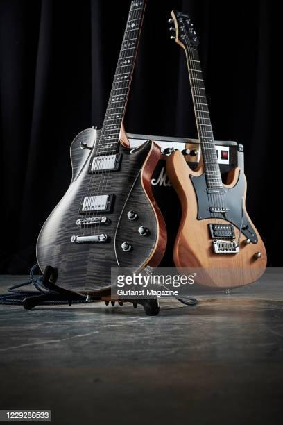 Framus Pro Series Panthera II Supreme electric guitar with a Nirvana Black Transparent HP finish and a Framus D-Series Diablo Pro electric guitar...