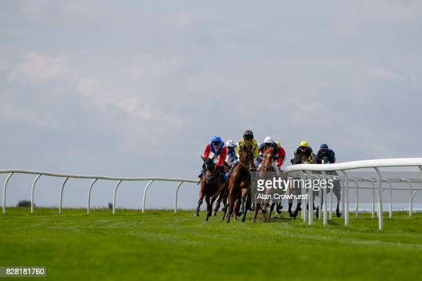Fran Berry riding Dukinta win The One PM Finance Handicap Stakes at Bath racecourse on August 9 2017 in Bath England