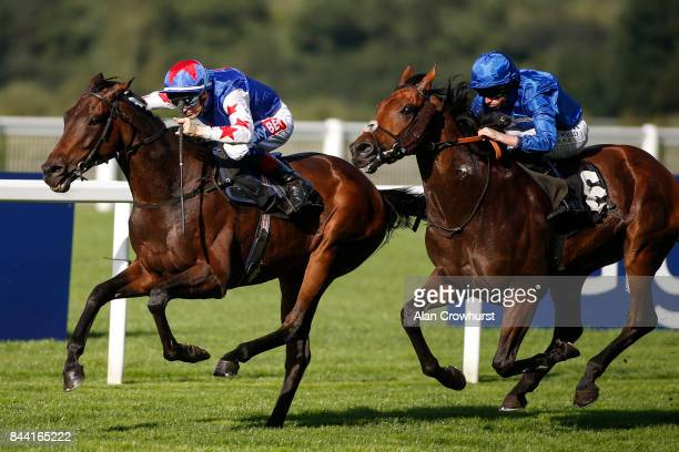 Fran Berry riding Great Hall win The Victorial Racing Club Handicap Stakes at Ascot racecourse on September 8 2017 in Ascot England