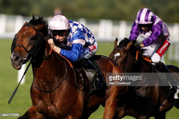 Fran Berry riding Leader Writer win The Weatherbys Handicap Stakes at Ascot racecourse on September 8 2017 in Ascot England