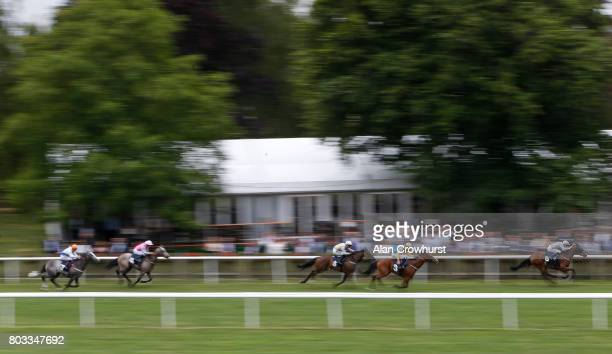 Fran Berry riding Stanhope win The 188Bet Handicap Stakes at Newmarket Racecourse on June 29 2017 in Newmarket England