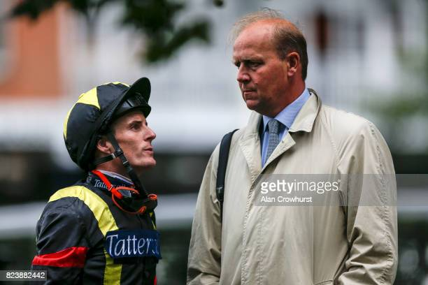 Fran Berry with Ed Dunlop at Ascot racecourse on July 28 2017 in Ascot England