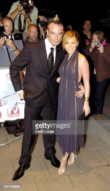 Fran Cosgrove and Natasha Hamilton during 2005 TV Quick TV Choice Awards Arrivals at The Dorchester in London Great Britain