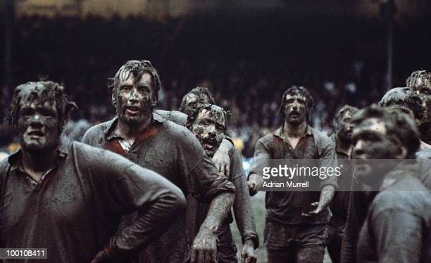 Fran Cotton in the foreground of a mud covered British Lions lineout against New Zealand Juniors who they defeated 19 9 on 20 July 1977 at the...