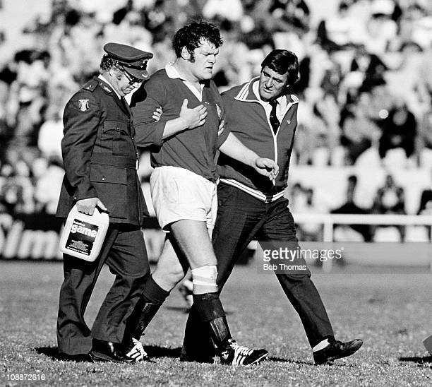 Fran Cotton of the British Lions is led off the field with a heart condition during the match against the Proteas Invitation XV at Stellenbosch...