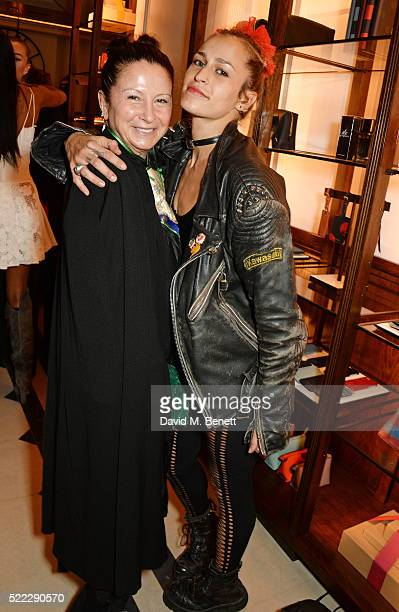 Fran Cutler and Alice Dellal attend an event hosted by Naomi Campbell, Burberry and TASCHEN to celebrate the launch of 'Naomi' at Burberry's at...