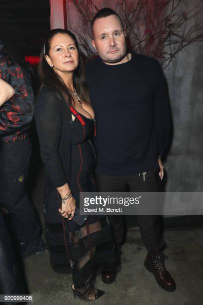 Fran Cutler and Kim Jones attend Mert Alas' birthday party hosted by Ciroc at MNKY HSE on February 19 2018 in London England