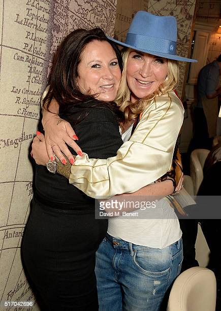 Fran Cutler and Meg Matthews attend Meg's 50th birthday lunch at Mews of Mayfair on March 23 2016 in London England