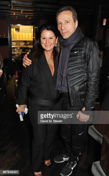 Fran Cutler and Michael Wincott attend Fran Cutler's birthday dinner at Bo Lang on May 1 2014 in London England