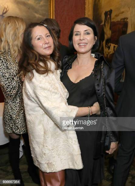 Fran Cutler and Sadie Frost attend as Edward Enninful and Kate Moss celebrate Giovanni Morelli as the new creative director of Stuart Weitzman with a...