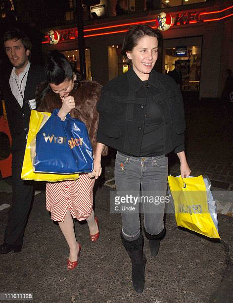 Fran Cutler and Sadie Frost during Walk The Line A Tribute to Johnny Cash Departures at Cafe de Paris in London Great Britain