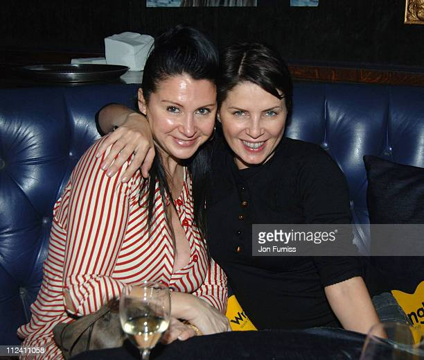 Fran Cutler and Sadie Frost during Walk The Line A Tribute to Johnny Cash Inside at Cafe de Paris in London Great Britain