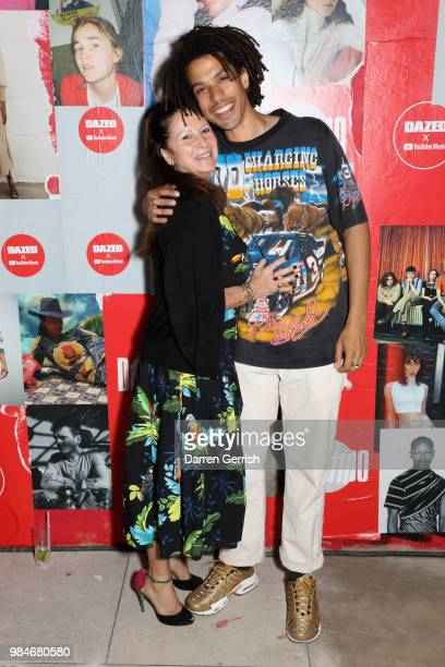 Fran Cutler and Sean Frank attend the Dazed and YouTube Dazed100 celebration at St Giles House on June 26 2018 in London England