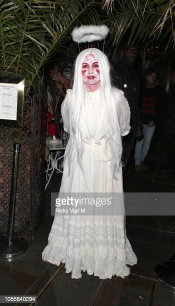 Fran Cutler at her Halloween Party on October 31 2018 in London England
