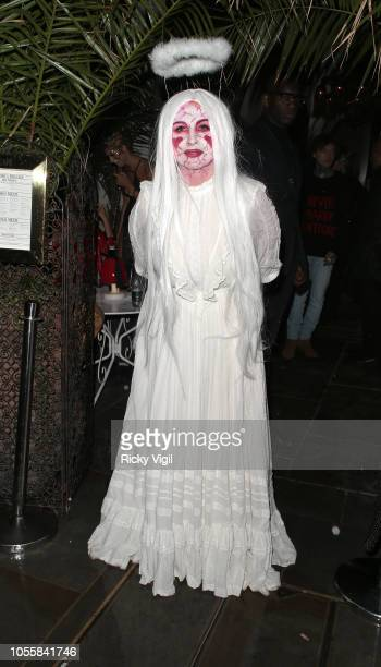Fran Cutler at her Halloween Party on October 31, 2018 in London, England.