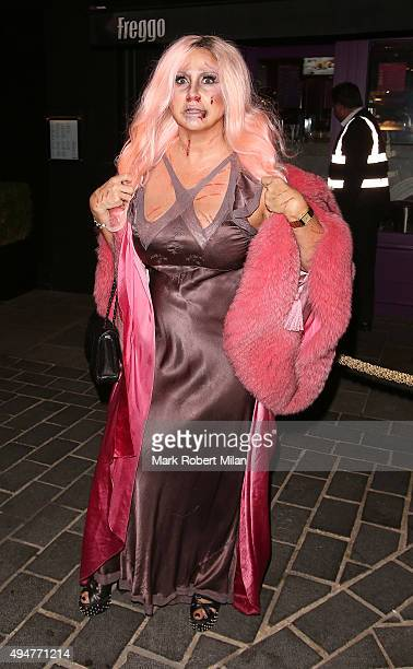 Fran Cutler at The Cuckoo Club Halloween party on October 28 2015 in London England