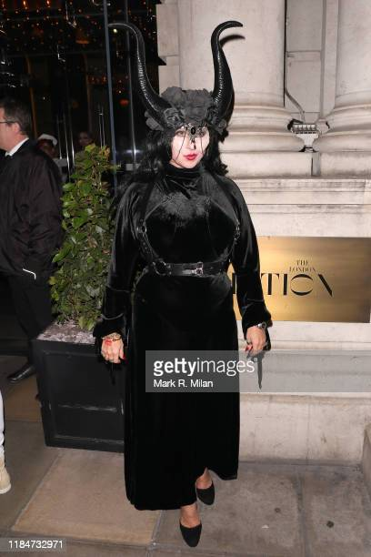 Fran Cutler attending Fran Cutlers Halloween party at The Berners Tavern on October 31 2019 in London England