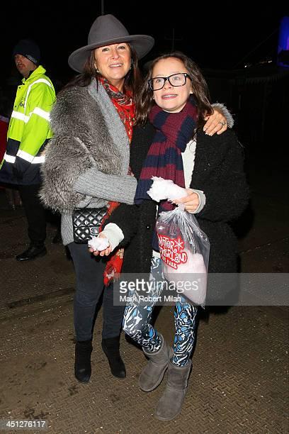 Fran Cutler attending the Winter Wonderland VIP Launch on November 21, 2013 in London, England.