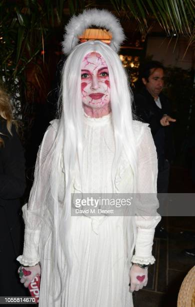 Fran Cutler attends Fran Cutler's annual Halloween party in association with CIROC Vodka Black Raspberry at MOMO on October 31 2018 in London England