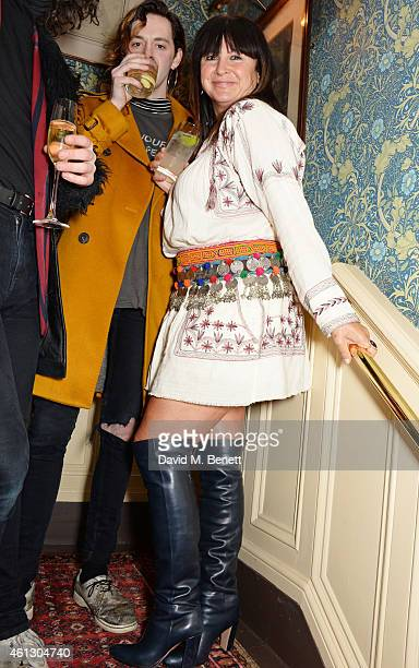 Fran Cutler attends the Esquire Jimmy Choo party the official launch party of London Collections Men AW15 at Marks Club on January 10 2015 in London...