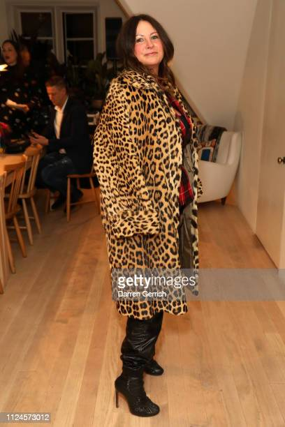 Fran Cutler attends the Rosemary Ferguson X MATCHESFASHIONCOM party on January 24 2019 in London England