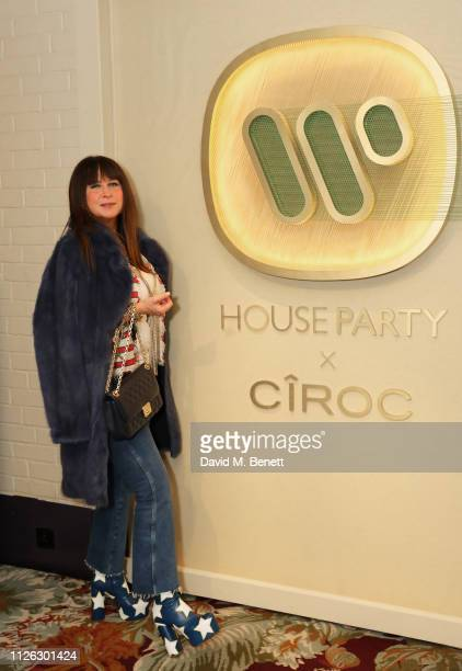 Fran Cutler attends the Warner Music CIROC Vodka House Party in association with GQ at Chiltern Firehouse on February 20 2019 in London England
