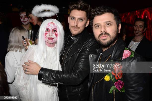 Fran Cutler Henry Holland and David Hodgson attend Fran Cutler's annual Halloween party in association with CIROC Vodka Black Raspberry at MOMO on...