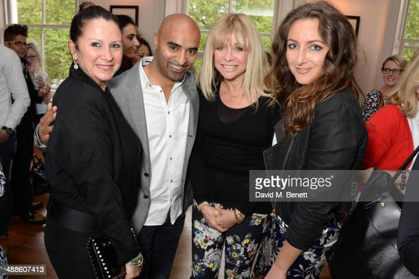 Fran Cutler Jon Denoris Jo Wood and Natasha Corrett attend the launch of 'The PopUp Gym' written by Jon Denoris at Mortons on May 7 2014 in London...