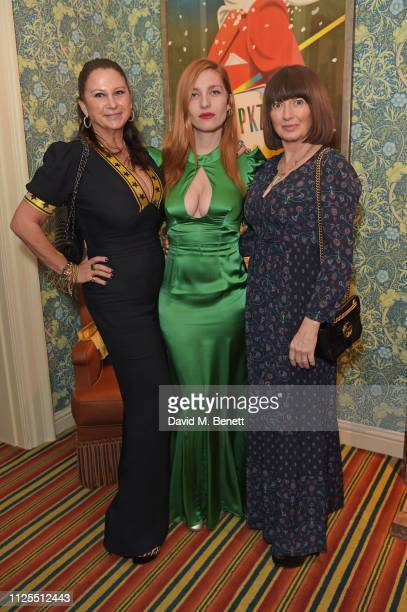 Fran Cutler Josephine de La Baume and Charlotte Cutler attend the Victoria Beckham x YouTube Fashion Beauty after party at London Fashion Week hosted...